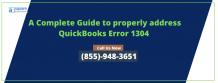 Best Method To Eliminate QuickBooks Error 1304