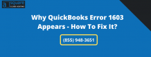 Why QuickBooks Error 1603 Appears - How To Repair It?