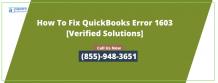 What Is Understand By QuickBooks Install Error 1603