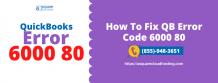 QuickBooks Company File Error 6000 80 - Reasons & Resolution