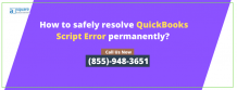 What Are The Top Methods To Fix QuickBooks Script Error. Check Now!