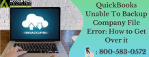 QuickBooks unable to back up company file
