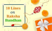 10 Lines On Raksha Bandhan in English for Kids - Indian Festivals