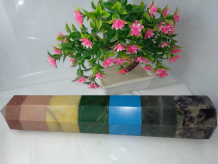 Chakra Pencil Bonded Tower for Reiki Healing and Crystal Healing Stones 15 Inch Approx