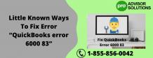 """Little Known Ways To Fix Error """"QuickBooks error 6000 83"""" - ZumaShare.com"""