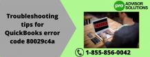 Quick tipes and tricks to fix QuickBooks error 80029c4a