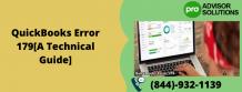 QuickBooks Error 179[A Technical Guide] | Diary Store