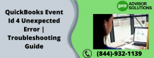 QuickBooks Event Id 4 Unexpected Error | Troubleshooting Guide | Diary Store