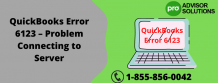 QuickBooks Error 6123 – Problem Connecting to Server | Diary Store