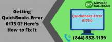 Getting QuickBooks Error 6175 0? Here's How to Fix it | Diary Store