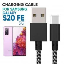 Samsung S20 FE 5G Braided Cable   Mobile Accessories