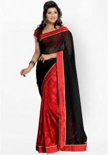 Women's cotton Silk Saree With Blouse Piece