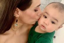 स्टुअर्ट बिन्नी-मयंती लैंगर का बेबी ब्वॉय हुआ 9 महीने का, देखें Cute फोटो