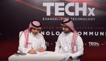 saudi-firms-agreement-techx-gitex-booth-techxmedia