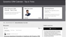 Dynamics CRM Calendar - Tips & Tricks