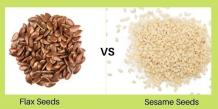 Flax Seeds Vs Sesame Seeds | Organic Products India