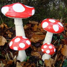 Make Your Garden More Beautiful with Pixielands Large Toadstools - Buy Online
