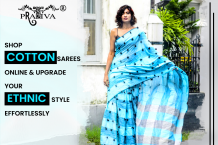 Shop cotton sarees online and upgrade your ethnic style effortlessly