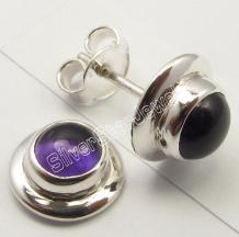 Silver Gemstone Earring Wholesale