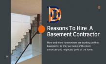 PPT - Reasons To Hire A Basement Contractor PowerPoint Presentation, free download - ID:10565399