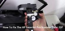 Get rid of HP Scanner Error 22