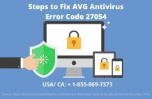 Steps to Fix AVG Antivirus Error Code 27054