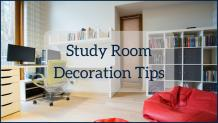 How to Decorate a Comfortable Study Room
