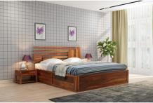Queen Size Bed: Buy Wooden Queen Beds Online At Best Prices - PlusOne India