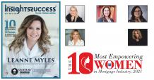 The 10 Most Empowering Women in Mortgage Industry, 2021