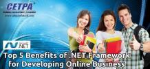 Top 5 Benefits of .NET Framework for Developing Online Business