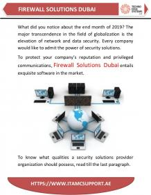 Top Firewall Security Solutions Provider in Dubai