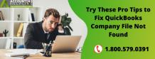 QuickBooks Company File Not Found