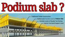 Concrete Podium | Podium Slab Thickness | What is Podium Slab