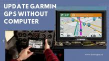 Update the Garmin GPS map without a computer?