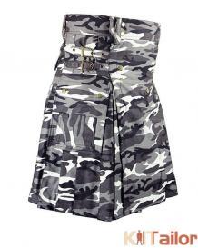 Black & White Camo Utility kilt For Men's Custom Made