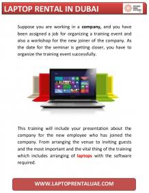 Uses of Getting Laptop Rental in Dubai