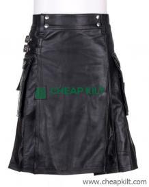 Leather Utility Kilt for Active Men