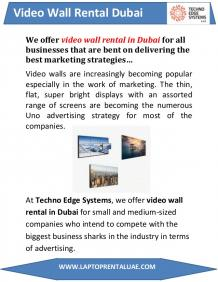 Video Wall Rental Dubai - LED Video Wall Rental UAE