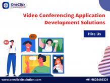 Video conferencing Application development company, video conferencing solutions, video chat app development company