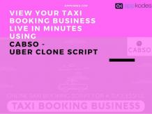 View your taxi booking business live in minutes using taxi booking sc…