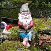 Garden Resin Fishing Gnome - A Perfect Garden Ornament for Your Garden