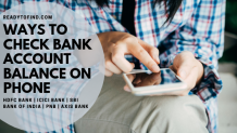 Ways to check bank account balance on mobile - Readytofind