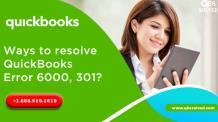 Ways to resolve QuickBooks Error 6000, 301. - QBS Solved