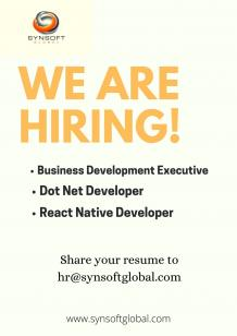 We Are Hiring for Angular React Native Asp Dot Net Developer In Indore