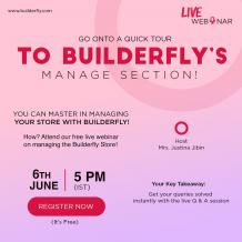 Builderfly   – A Complete Ecommerce Solution is conducting its Third Consecutive Webinar - BUILDERFLY