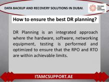 What is the Role of Disaster Recovery in Data Backup and Recovery Sol…