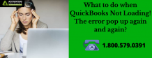 What to do when QuickBooks Not Loading! The error pop up again and again? - Eweniversally Green