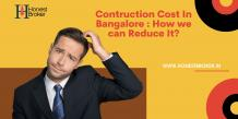 House construction cost in Bangalore