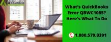QuickBooks Error QBWC1085