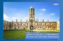 How to Select a University in the UK for an MBA Program? - ASDM Overseas